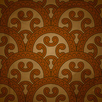 vector seamless  pattern on red grungy background with crumpled paper texture