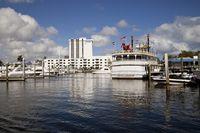 Ausflugsboot und Flussdampfer Jungle-Queen im Yachthafen von Fort Lauderdale