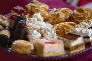 different kinds of desserts on a plate