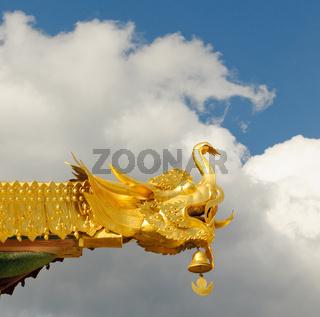 architectural details of songzanlin tibetan monastery, shangri-la, china