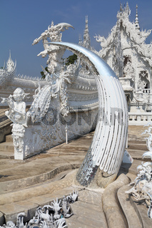 The modern Thai architecture. Snow-white palace-museum,