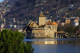 Schloss Chillon am Genfersee bei Montreux