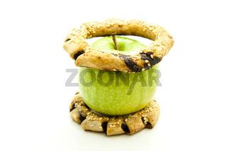 Apfel auf Kekse