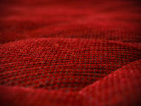 Rote Cord Couch