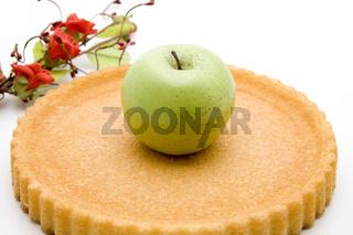 Apfel auf Kuchen