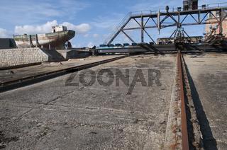 Historische Werft im Hafen von Camaret-sur-Mere
