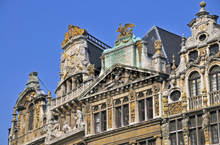 Gildehäuser, Zunfthäuser am Grote Markt, Grand Place, Brüssel, Belgien, Europa