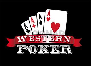Four Aces. Poker icon