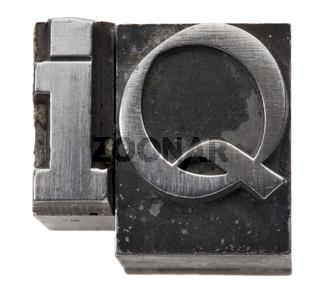 Intelligence quotient - IQ acronym