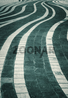Urban abstract background - wavy stone path