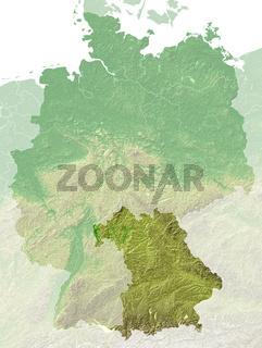 Topografische Relief karte Bayern