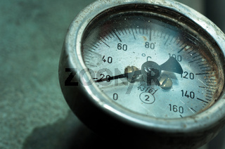Close up of an old measurement meter