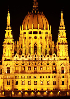 Budapest Parliament building in Hungary (Budapest) at twilight.
