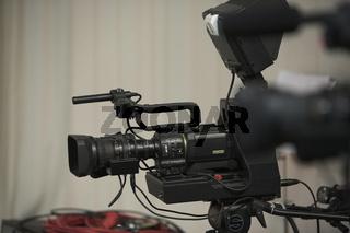 Videokamera im Fernsehstudio