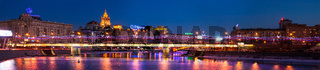 Panoramic View Of New-Arbat Bridge Over The Moscow River
