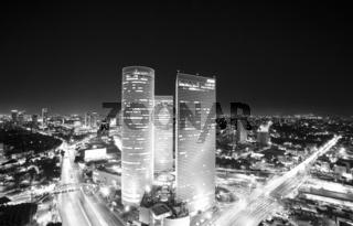 Tel Aviv skyline at