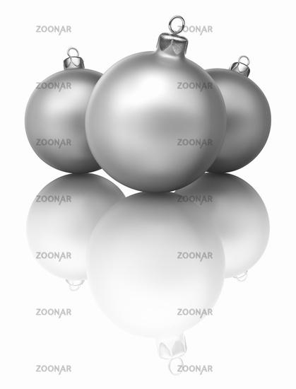 Three Christmas Baubles