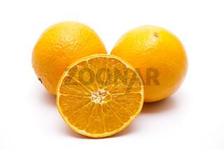 Orangen halbiert