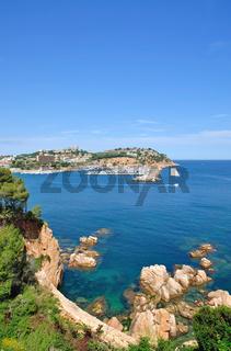 Blick auf den Urlaubsort Sant Feliu