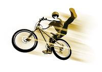 Radfahrrer beim Sprung