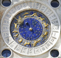 Zodiac clock at San Marco square in Venice