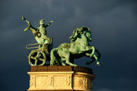 Pferde statue heldenplatz budapest