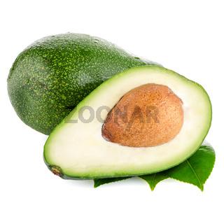 Avocados on white