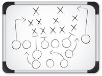 Vector - Teamwork Football Game Plan Strategy on Whiteboard