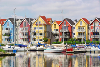 Greifswald Hafen Häuser - Greifswald harbour houses 01