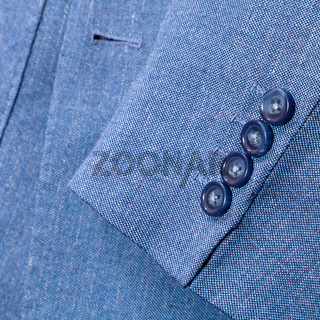 fragment of blue silk men's suit
