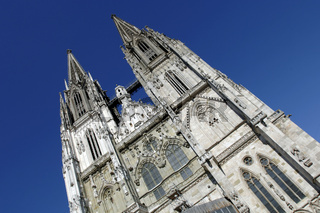 Altstadt von Regensburg mit Dom St. Peter