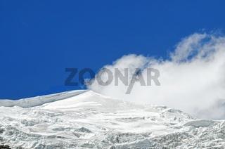 Bergspitze am Karola-Gletscher Tibet China