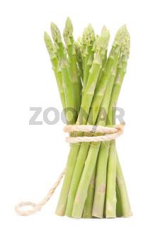 Isolated fresh green Asparagus bundle