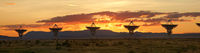 Very Large Array as Sunset, New Mexico
