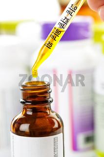 Medicine dropper and bottle