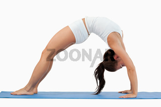 Woman practicing gymnastic