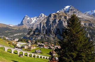 Bergdorf Mürren, Berner Oberland, Schweiz