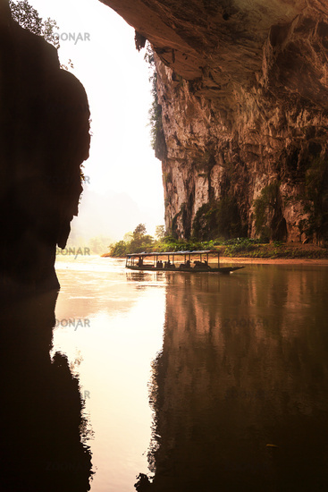 River in cave,Vietnam