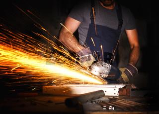 man use grinder