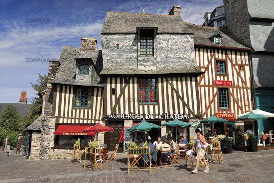 Bretagne: Mittelalterliche Fachwerkhäuser in Vitré