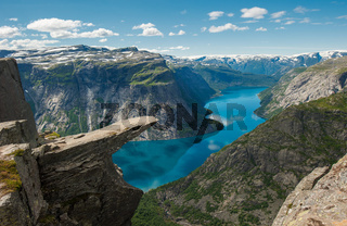 Trolltunga, Troll's tongue rock, Norway