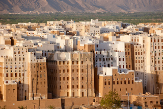 Panorama of Shibam, Hadhramaut province, Yemen