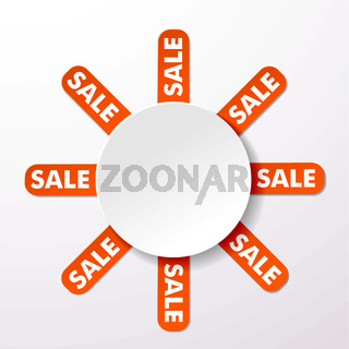 Sale Big Round Info Label