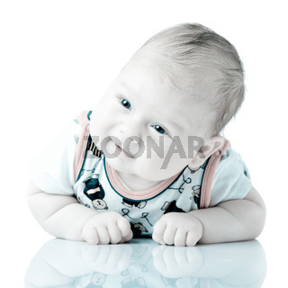Adorable baby boy isolated