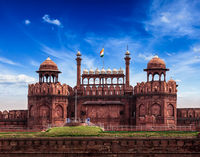 Red Fort (Lal Qila). Delhi, India
