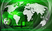 Green Global Business Background