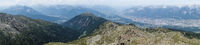 Panorama Ausblick auf die Stadt Innsbruck in Tirol