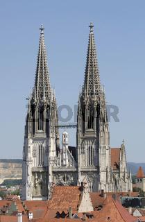 Historische Altstadt von Regensburg mit Dom