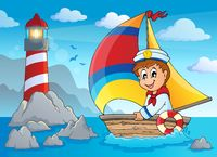 Image with sailor theme 4 - picture illustration.