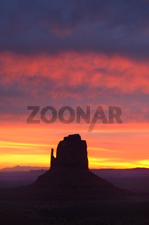 Colorful Sunrise East Mitten Butte
